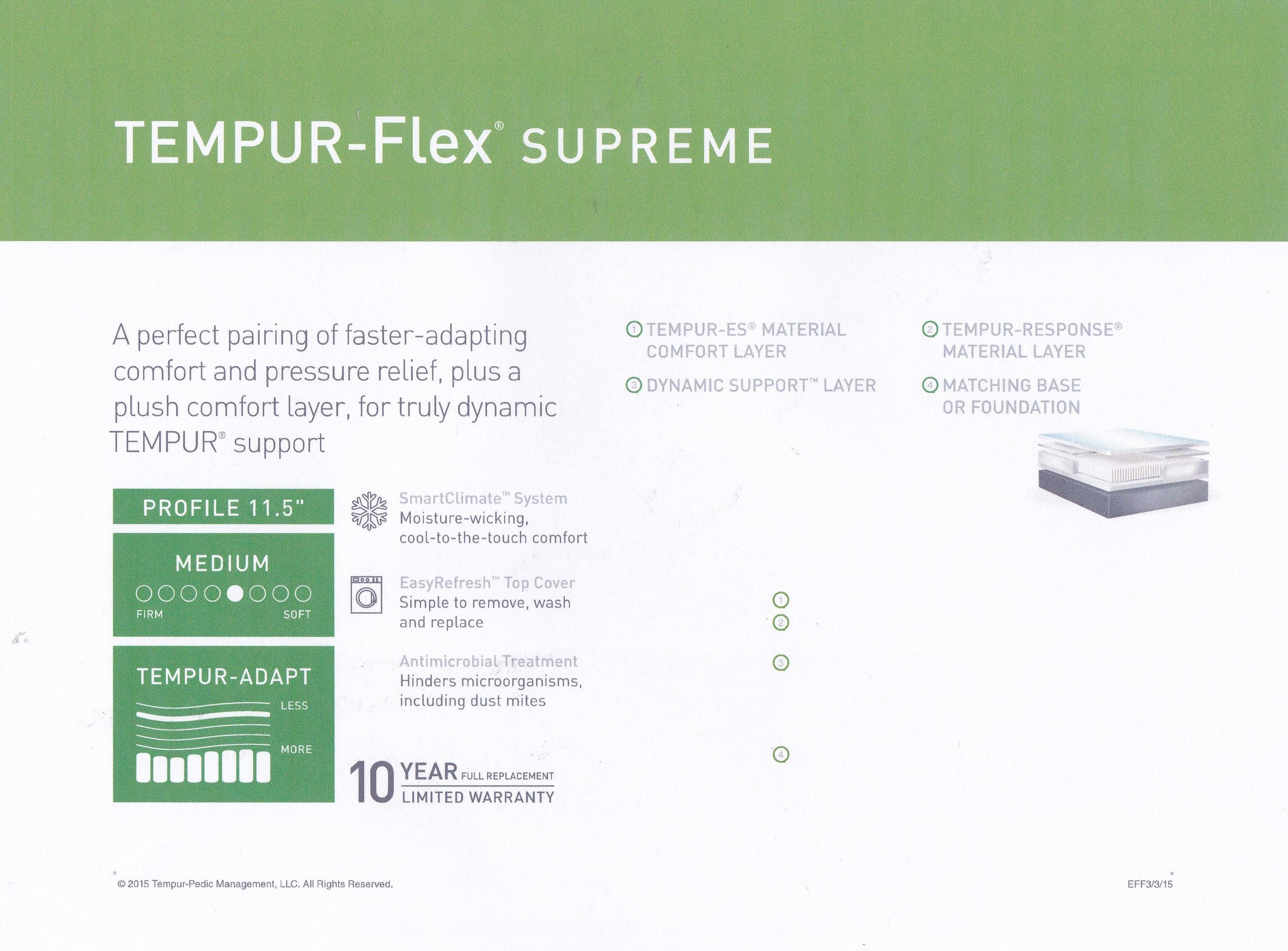 Tempur flex supreme